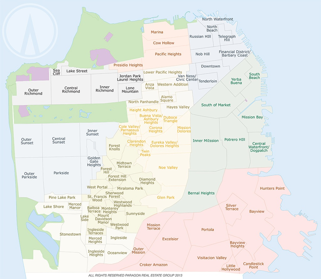 San Francisco Demographics By Zip Code6 Jpg Rob Costabile